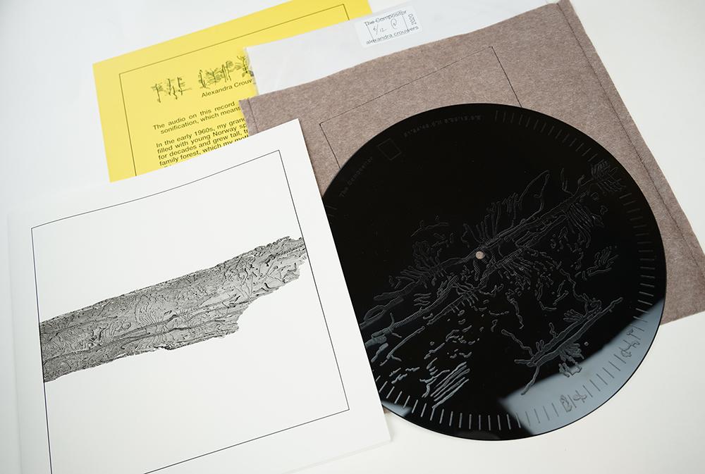 Alexandra Crouwers, The Compositor Composing, 2020, vinyl record.