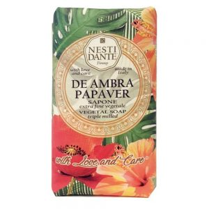 250g Fine Natural soap De Ambra Papaver