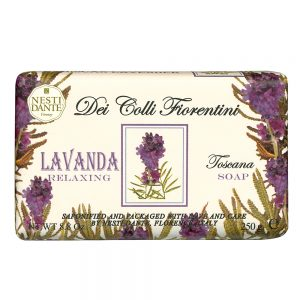 250g Fine natural relaxing lavender soap.