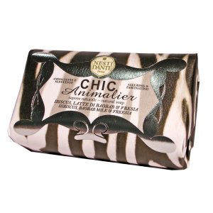 250g Fine natural soap Chic Animalier White