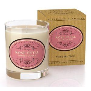 Naturlig luksus duftlys rose petal 200g