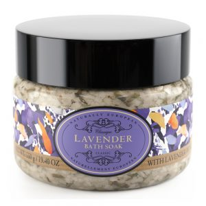 Badesalt 550g lavendel med lavendel blomster