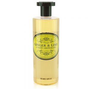 Luxury shower gel ginger lime 500ml.