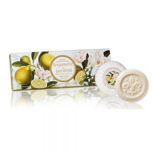 Vegetabilsk sæbe i æske bergamotte & Gardenia