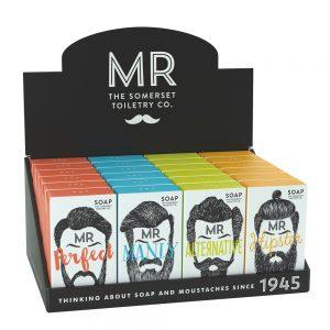 Mr. Beard soaps i display