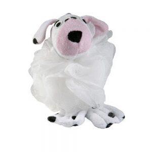 Fluffy svamp rosa/hvid  Dalmatiner