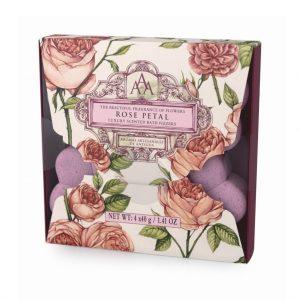 Bath Fizzer 4 x30g i æske rose Petal