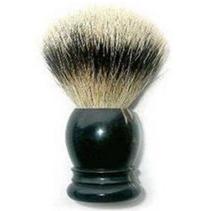 Sort træ barberk kost med grævlinge hår