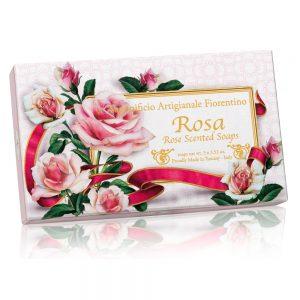 Vegetabilsk sæbe Rose 3 x100g