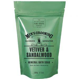 Mineral bath soak Vetiver & Sandelwood 500g