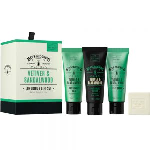 Gift set Vetiver & Sandelwood 3 x75ml + 40g