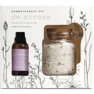 Lavendel Aromatheraphy sæt Bath & body oil + bade salt