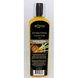 Antibacterial hånd sæbe 250ml m/ lemongrass æterisk olie PÅ LAGER UGE 16