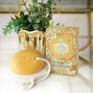 Luxury Body soap on a rope 150g Gold