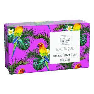 Tropical Luksus sæber 220g 4 varianter i display