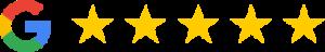 Google anmeldelser af AlgeNord hvor vi har 5 flotte stjerner