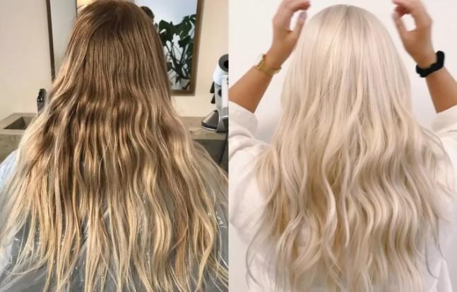 Dyed Blonde Hair