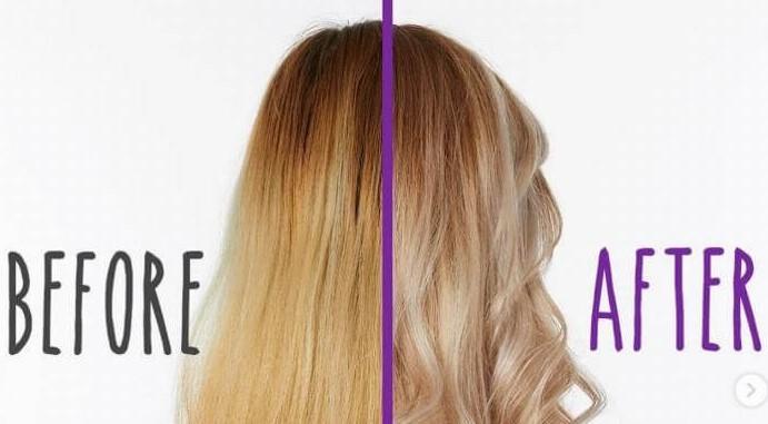 what does purple shampoo do