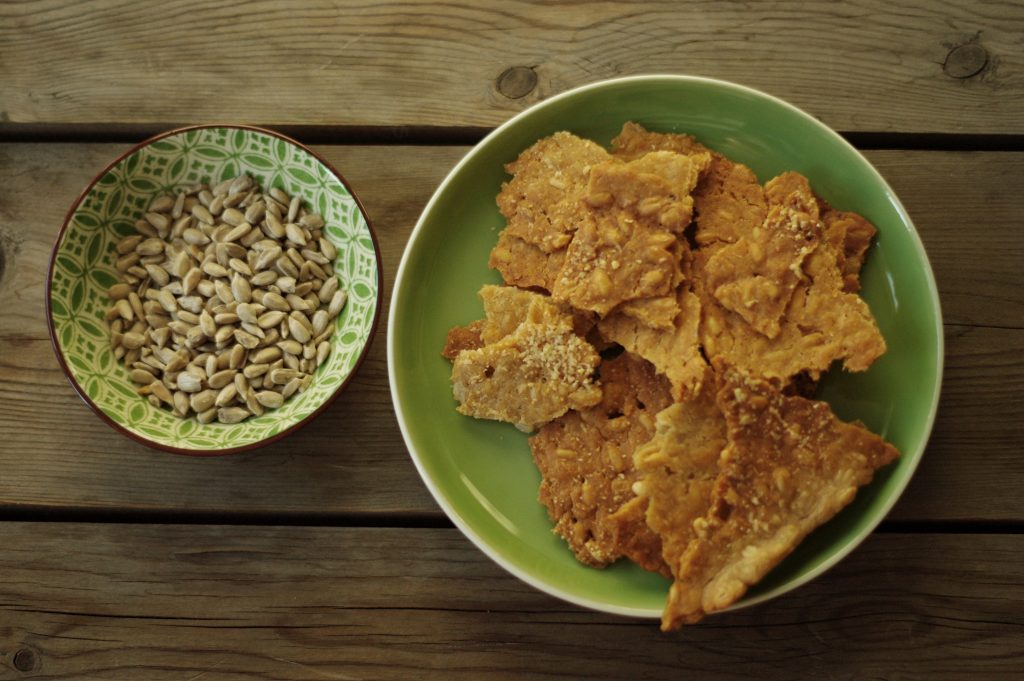 Sauerteig-Cracker, Sonnenblumenkerne