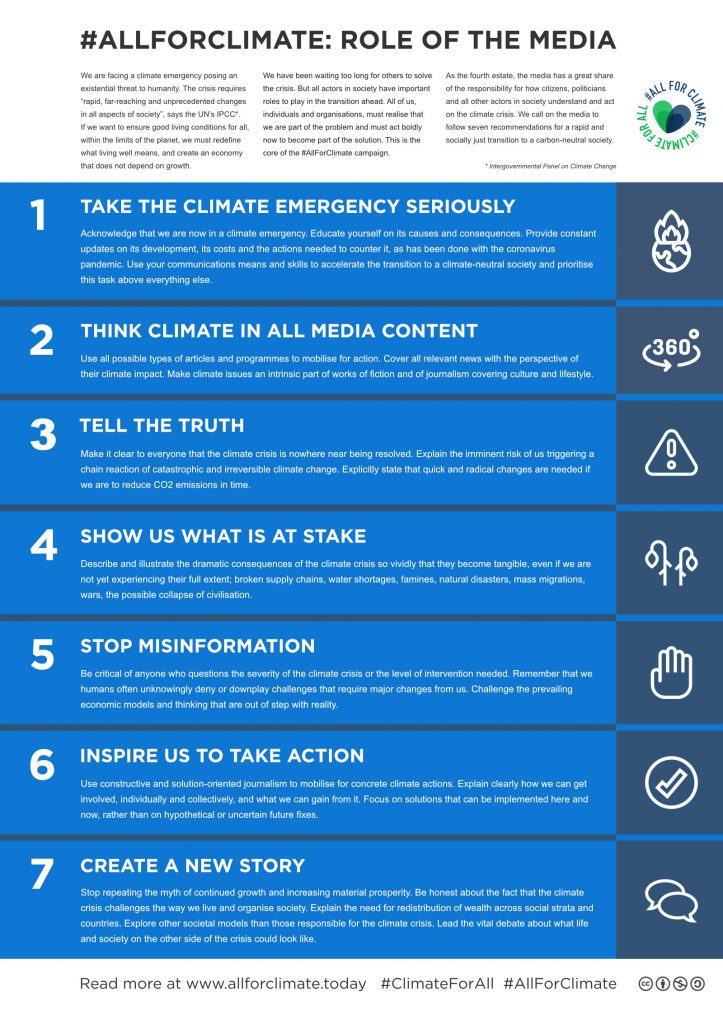 AllForClimate - Recommendations for media