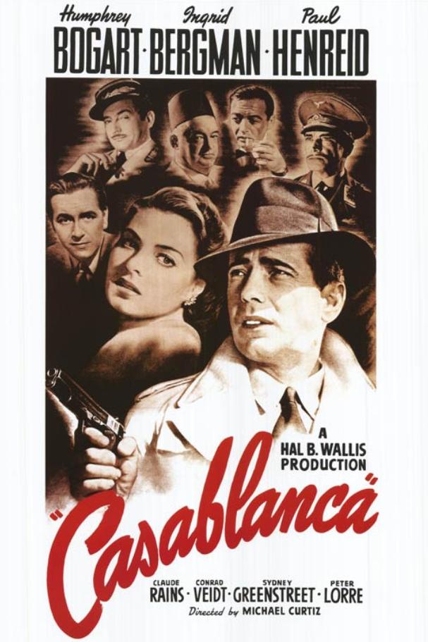 casablanca - fifth top movie
