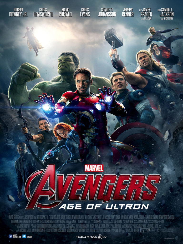 Avengers 2 - top 10 highest grossing films in history