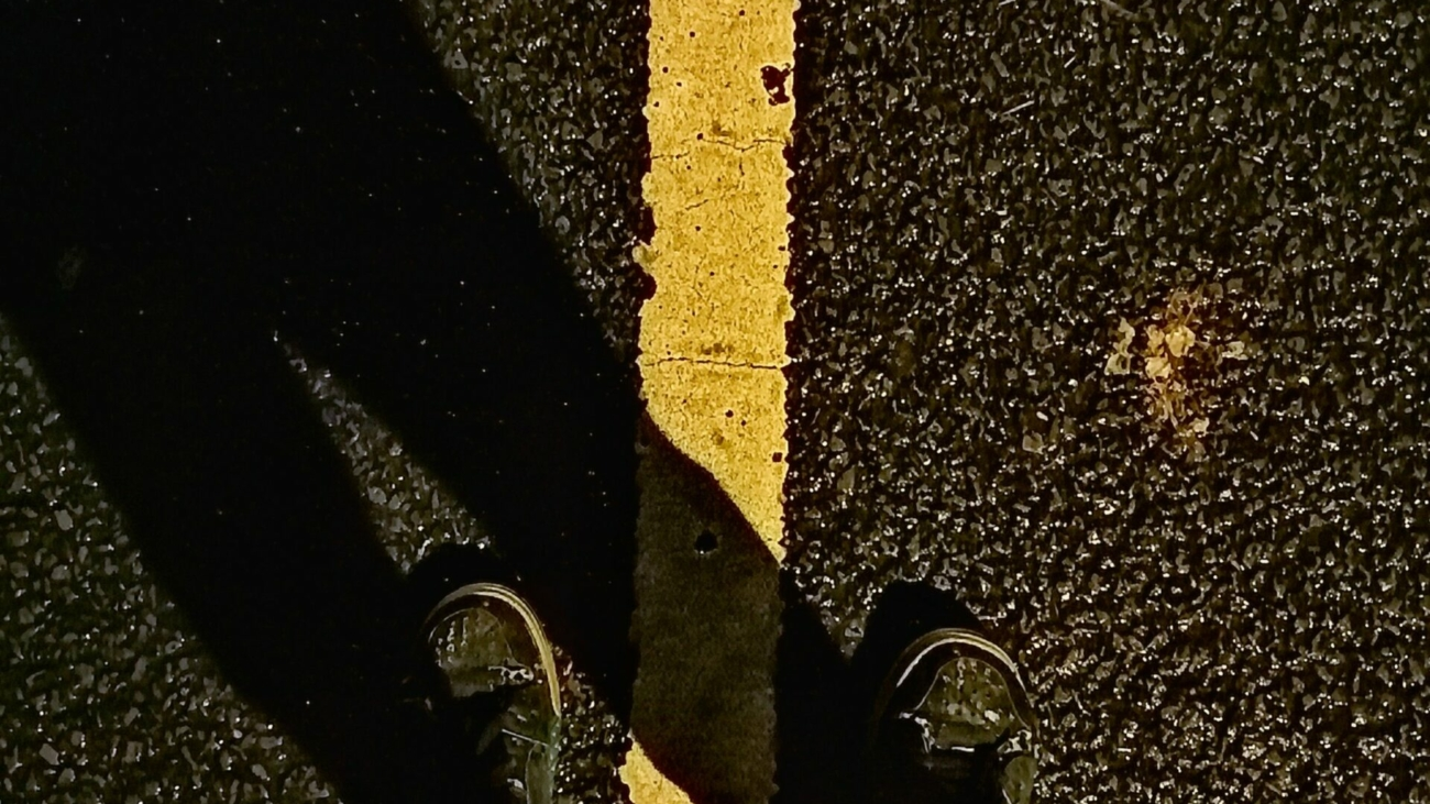 Feet on the road