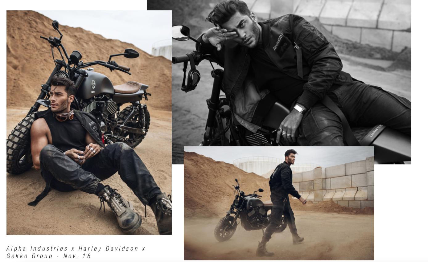 Alpha Industries x Harley-Davidson x Gekko Group