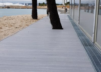 Aluminium Floors by Alu Floors Scandinavia Terrace by the sea