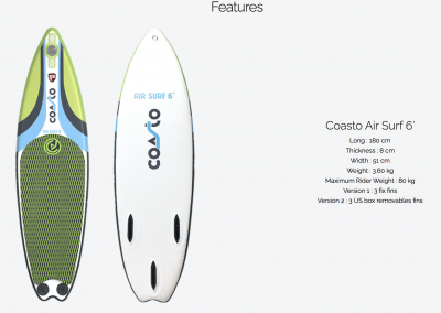 Stand up padle COASTO AIR SURF 6'