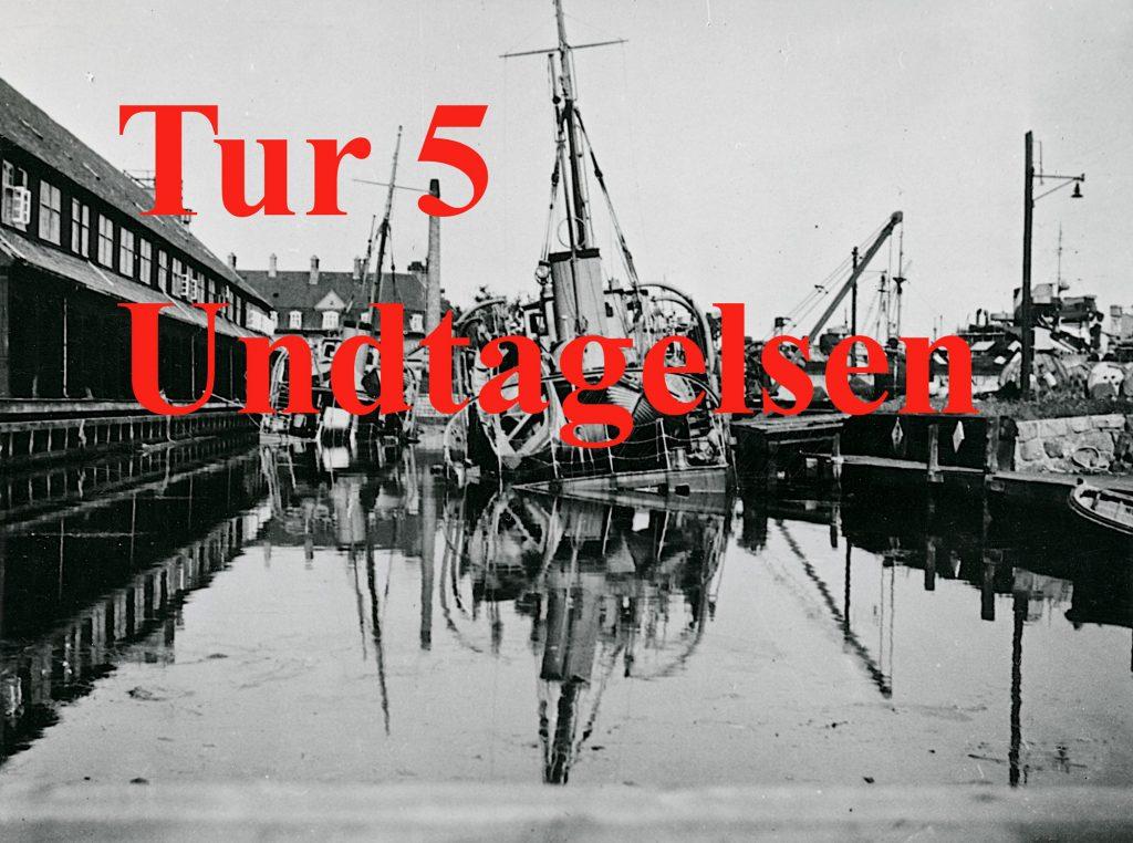 Foto af sænkede skibe 29. august 1943 der leder til tur 5