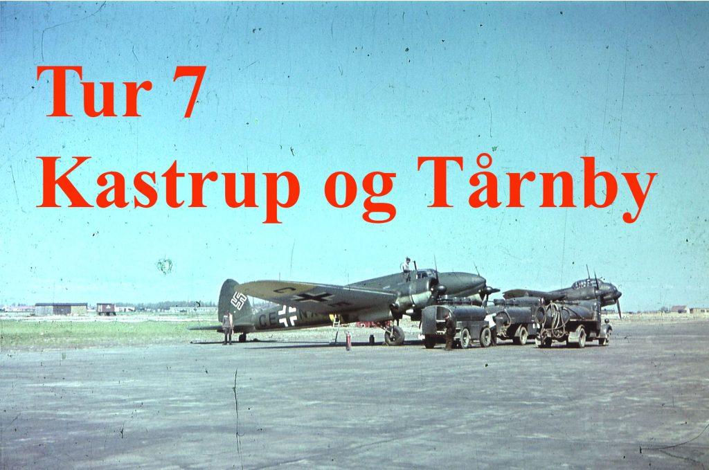 Foto af tysk bombefly i Kastrup der skal lede til tur nr. 7