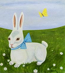 Kanin med fjäril av Amalia Årfelt