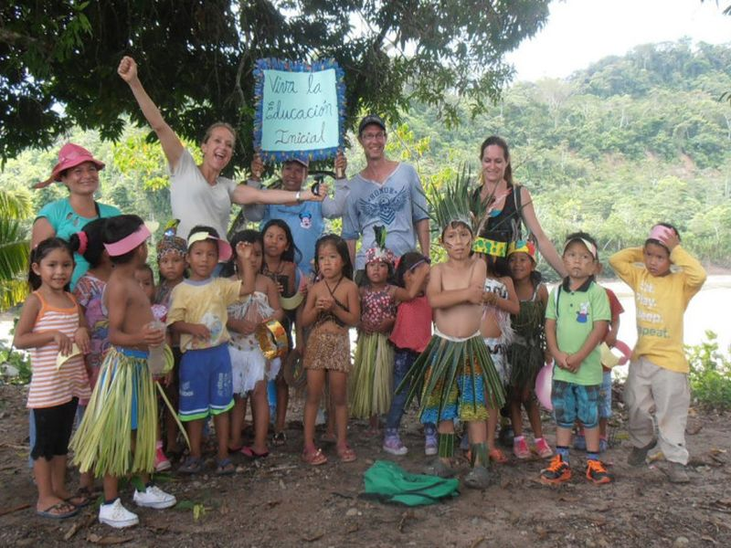 Education at Esperanza Verde animal and conservation volunteer project Peru