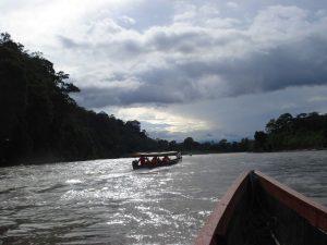 Canoe tour in the Amazon Rainforest of Tena Ecuador