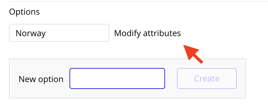 Modifying the attributes of an Option Set.