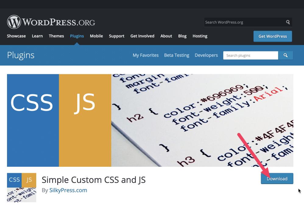 The Simple Custom CSS and JS WordPress plugin for WordPress