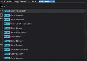 The Chrome Command Menu