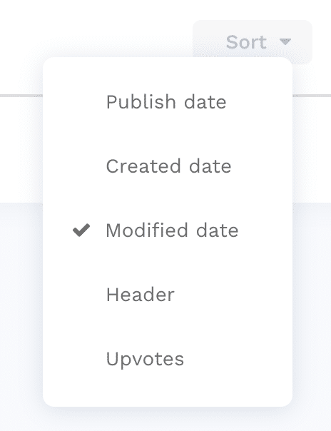 Dropdown menu being displayed next to a button.