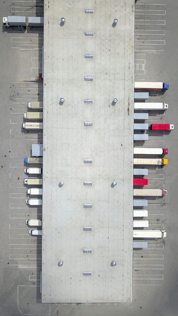 HGV Lorries at depo