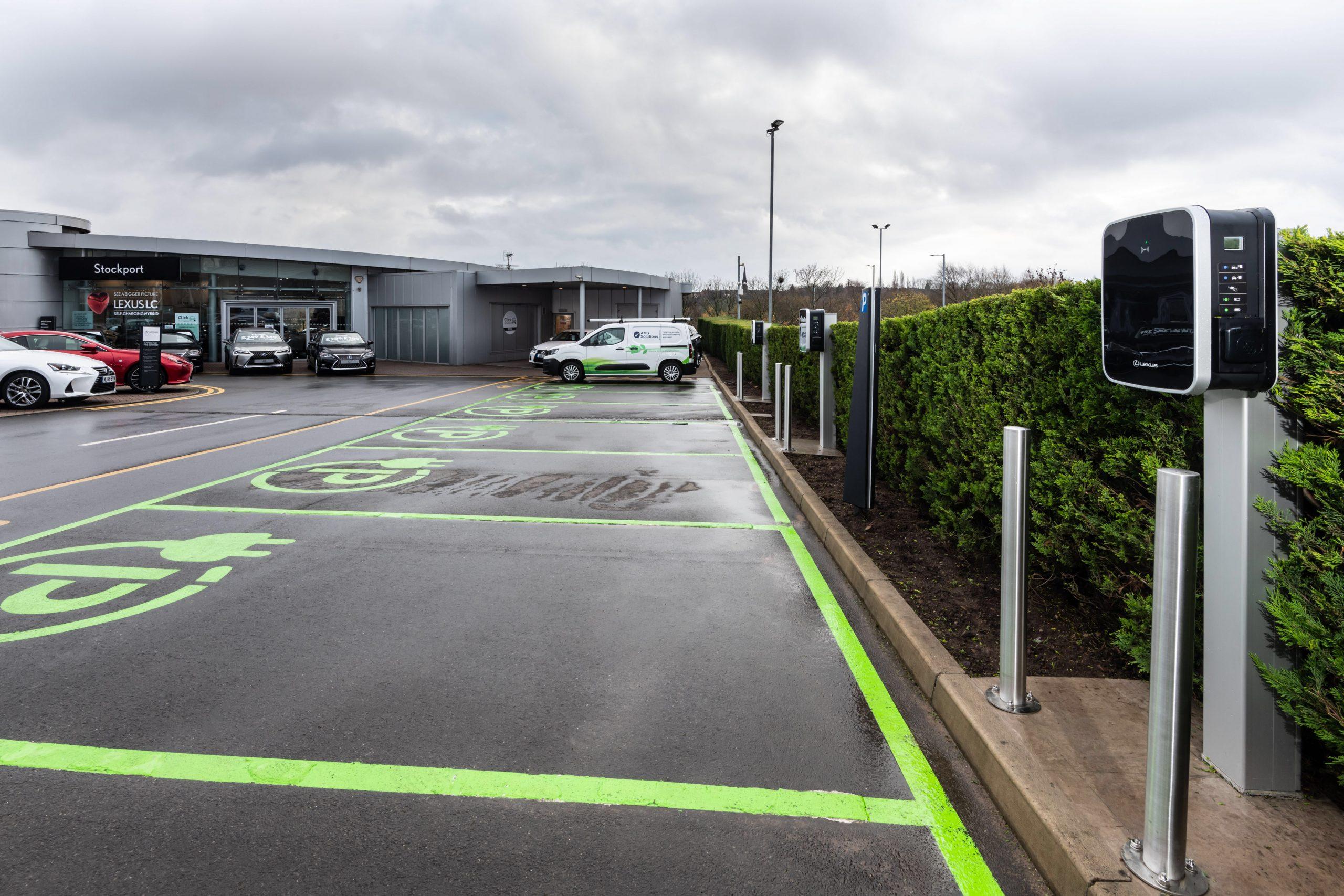 Installed ev charging points