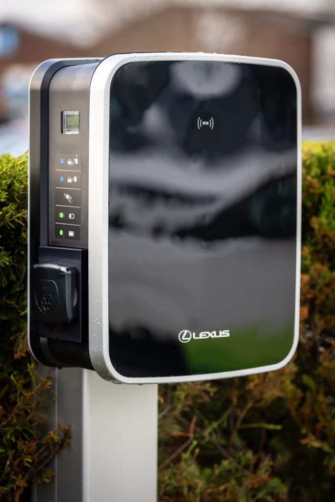 Electric vehicle charging point for Lexus vehicles