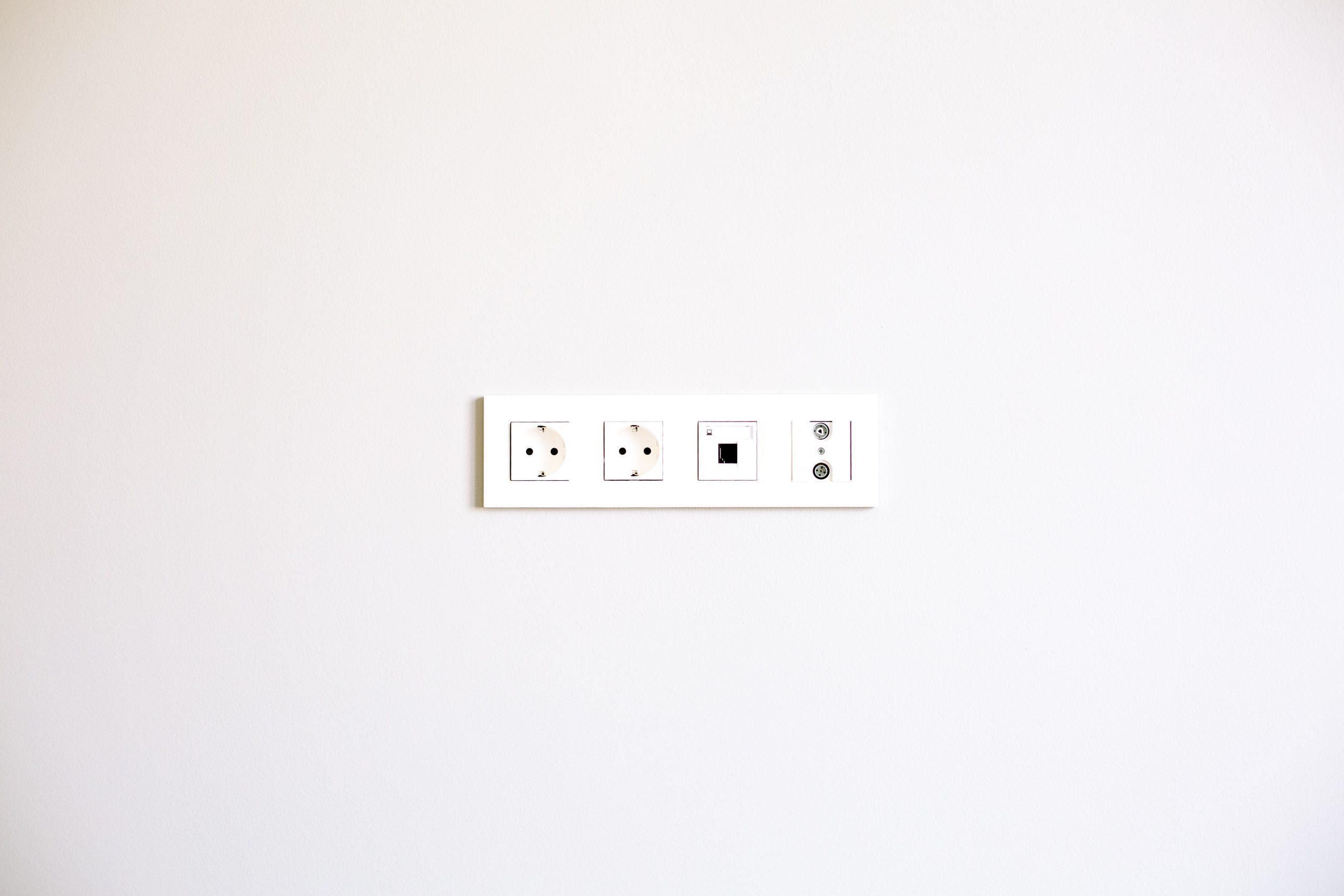 Plug sockets in wall