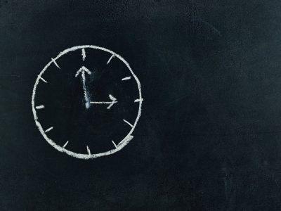 Chalk drawing of clock