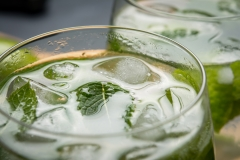 Mint leaf in a mojito drink