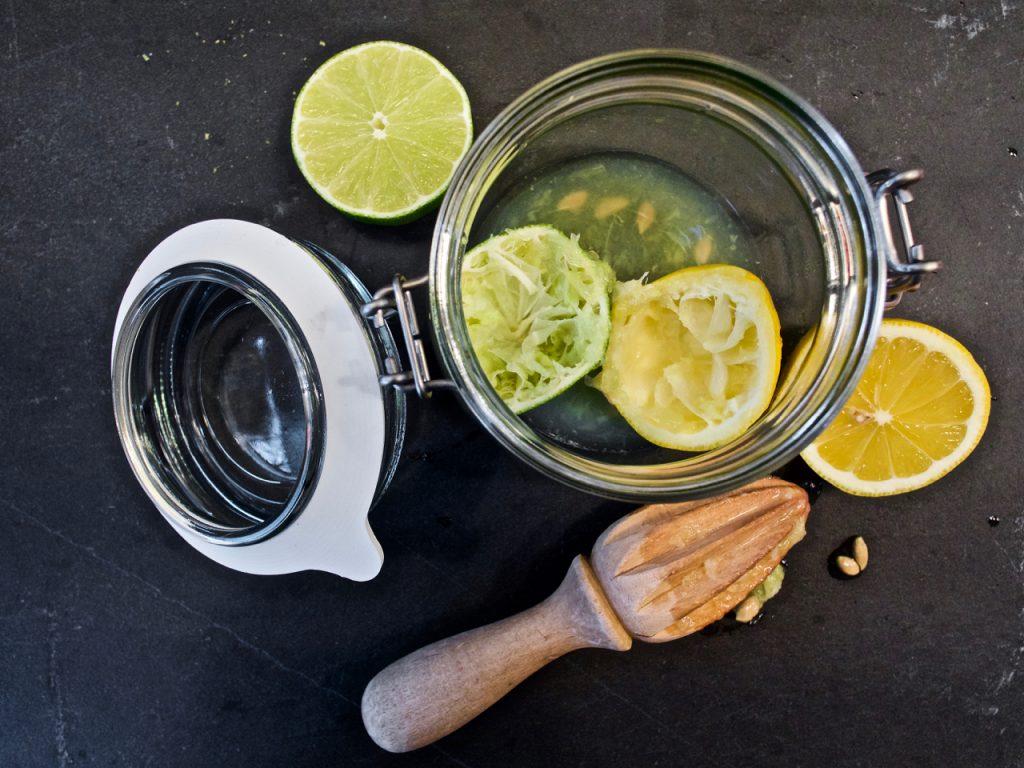 Lime og citron snaps