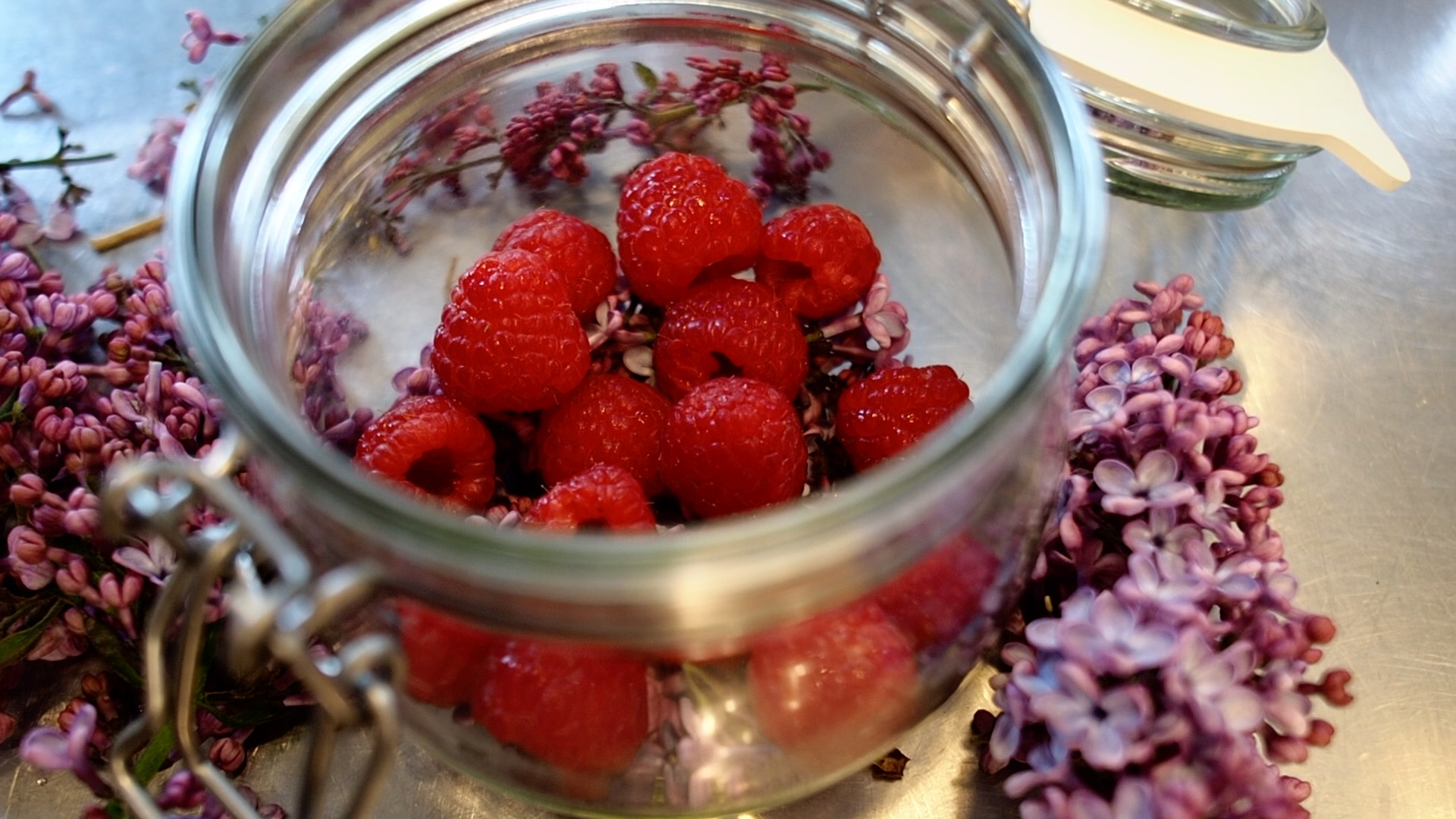 Syren og hindbær snaps