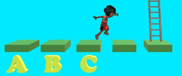 Jumping, early photo from Alphabet and Ladders