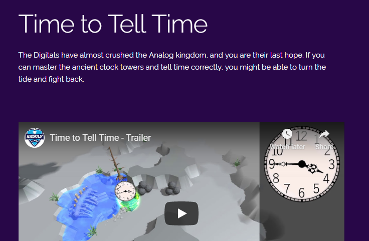 Product website for timetotelltime.com