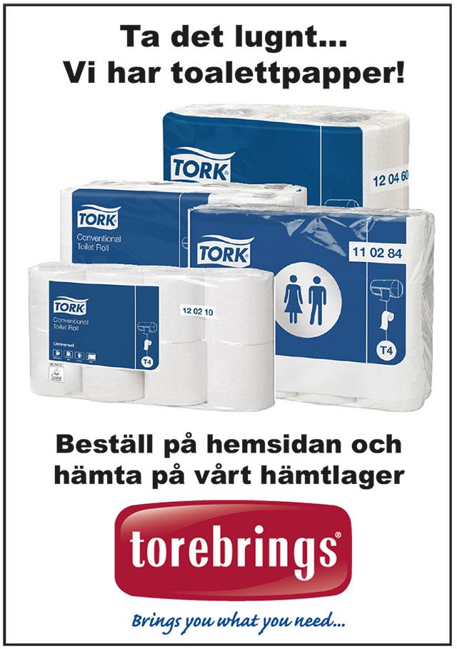 Ta det lugnt... Vi har toalettpapper! Beställ på hemsidan och hämta på vårt hämtlager. Torebrings